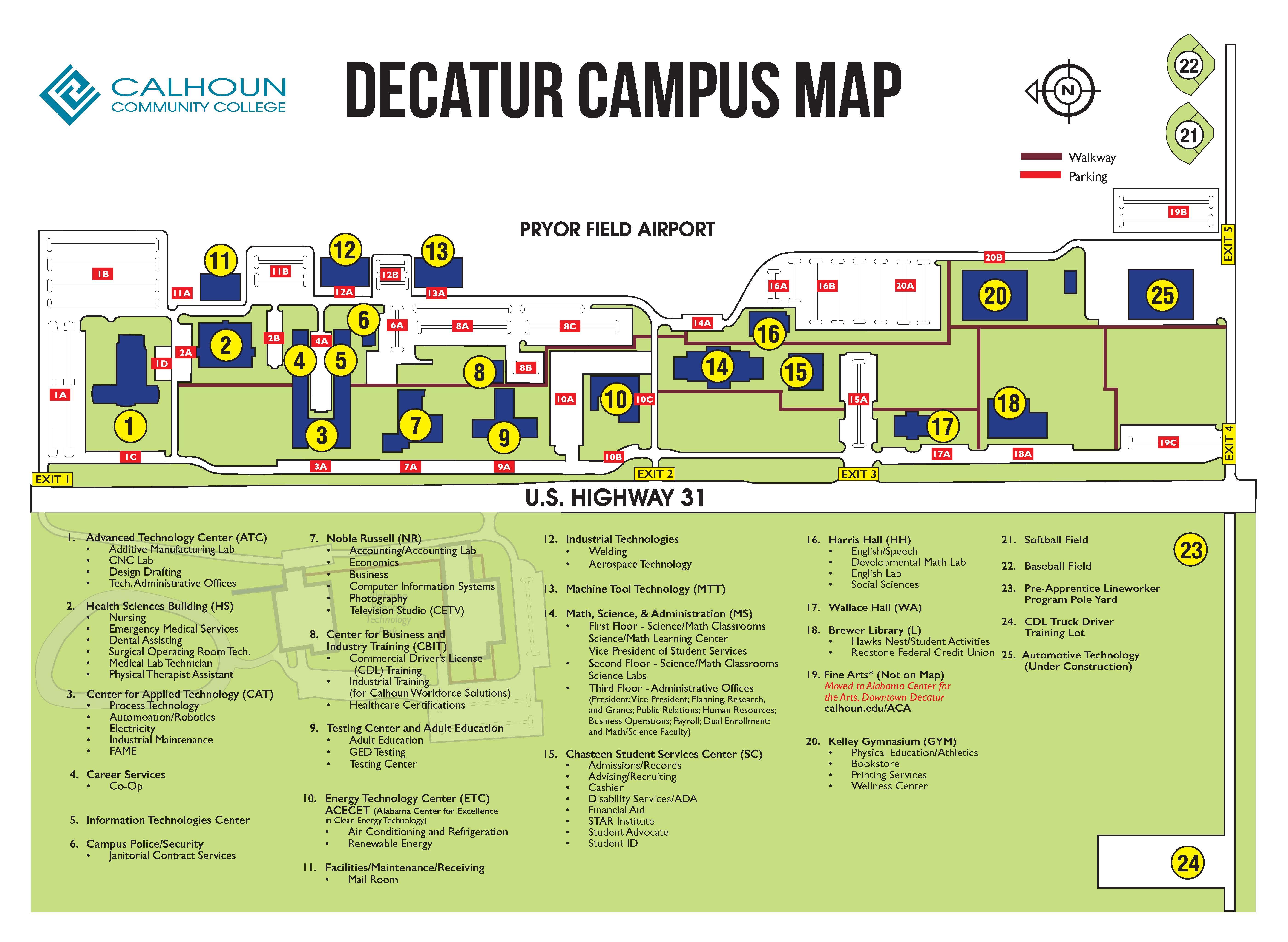 Campus Maps | Calhoun Community College
